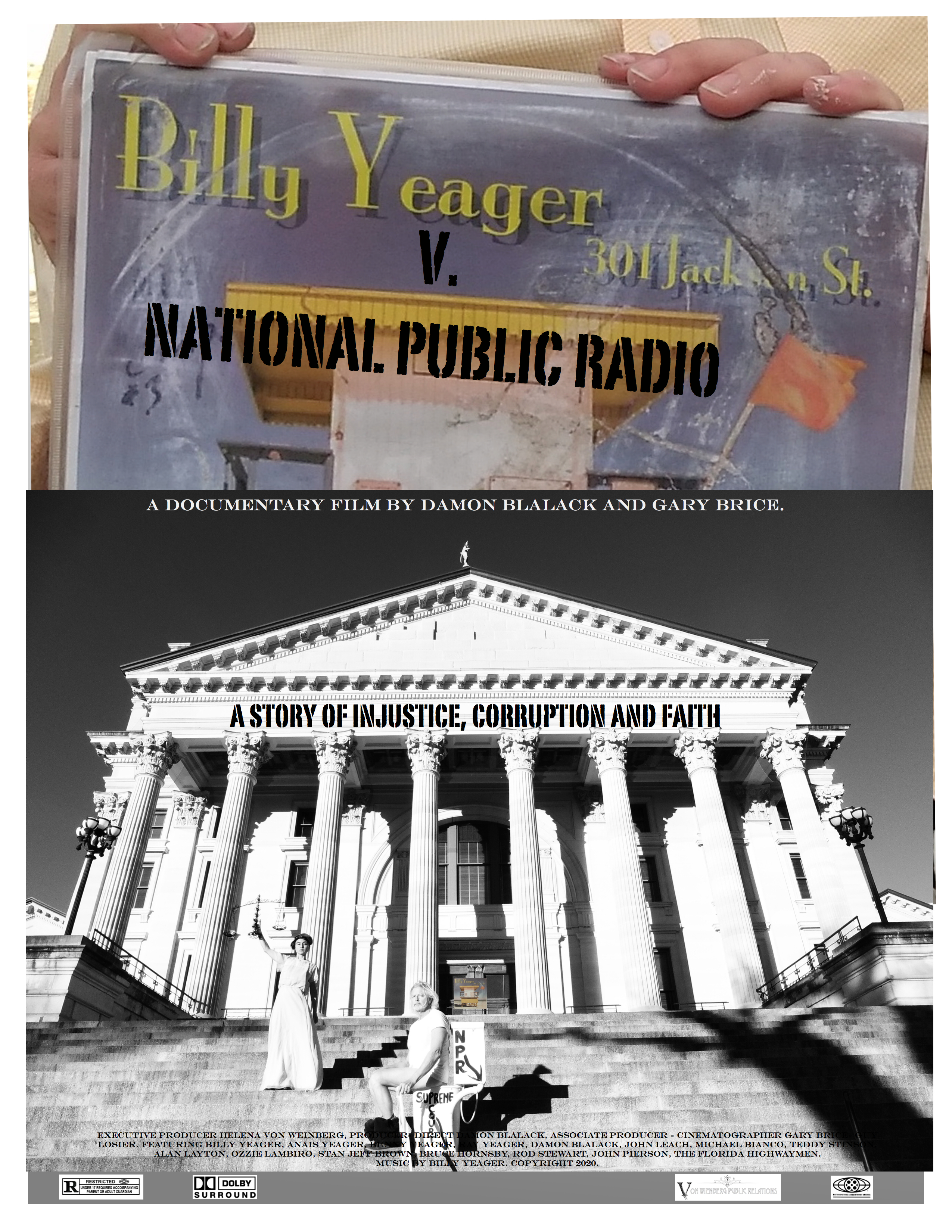 Billy Yeager v NPR Official Movie Poster 2021